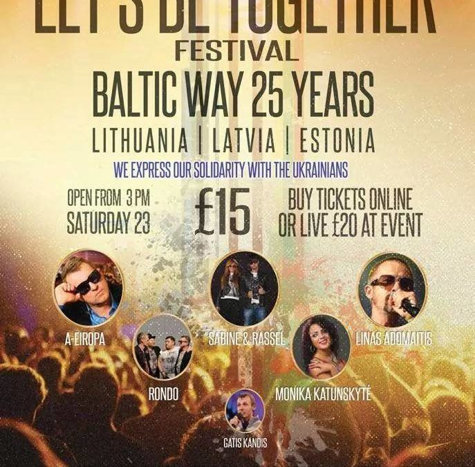 Christina will perform at Let's Be Together Festival Sat 23rd August